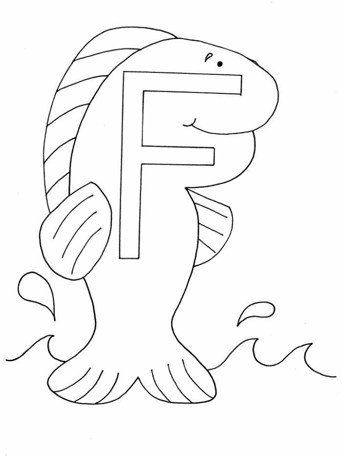 Alphabet Coloring Pages 8