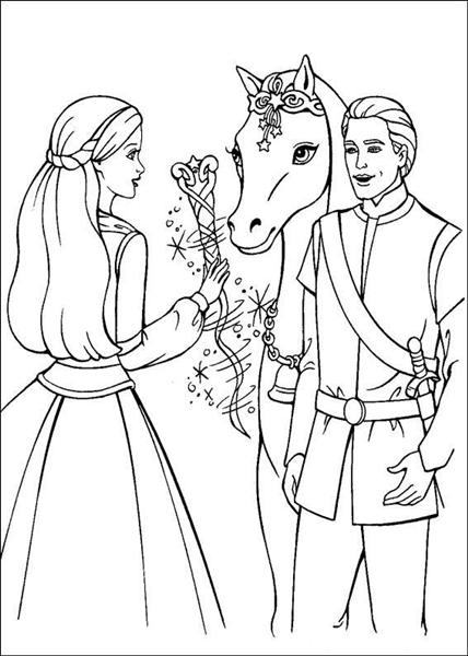Barbie and The Magic Pegasus Coloring Pages 1