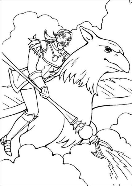 Barbie and The Magic Pegasus Coloring Pages 10