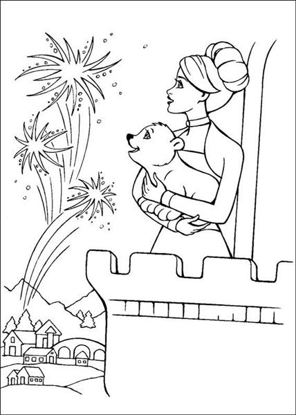 Barbie and The Magic Pegasus Coloring Pages 11