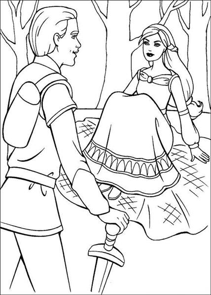 Barbie and The Magic Pegasus Coloring Pages 4