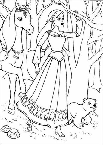 Barbie and The Magic Pegasus Coloring Pages 5