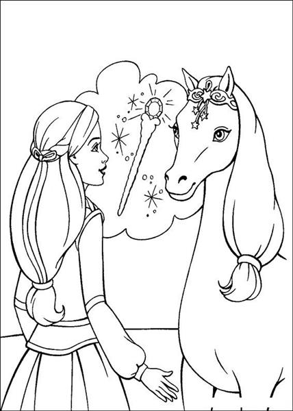 Barbie and The Magic Pegasus Coloring Pages 6
