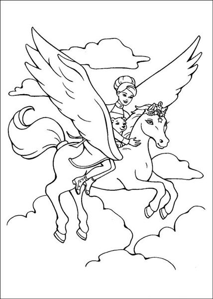 Barbie and The Magic Pegasus Coloring Pages 8