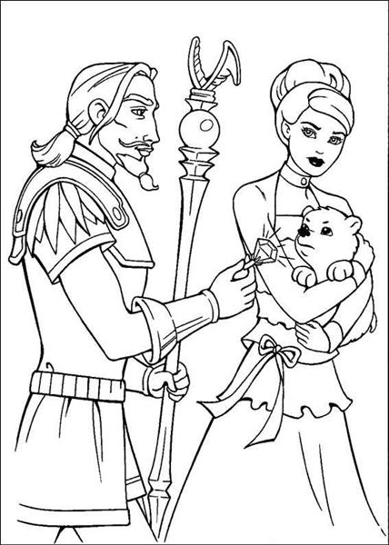 Barbie and The Magic Pegasus Coloring Pages 9