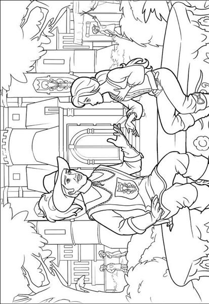 Barbie and The Three Musketeer Coloring Pages 1