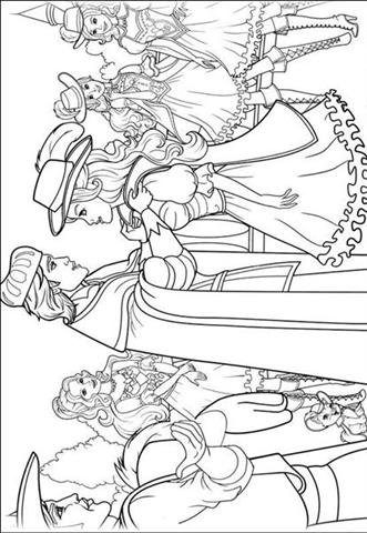 Barbie and The Three Musketeer Coloring Pages 10