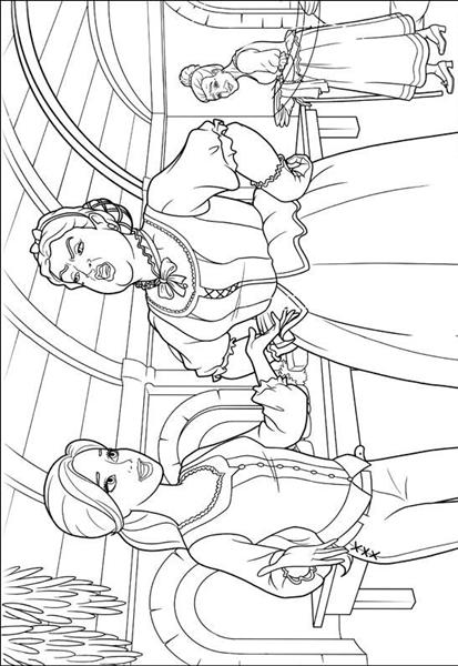 Barbie and The Three Musketeer Coloring Pages 3