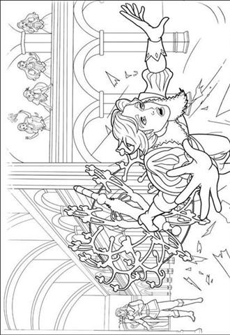 Barbie and The Three Musketeer Coloring Pages 4