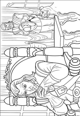 Barbie and The Three Musketeer Coloring Pages 6