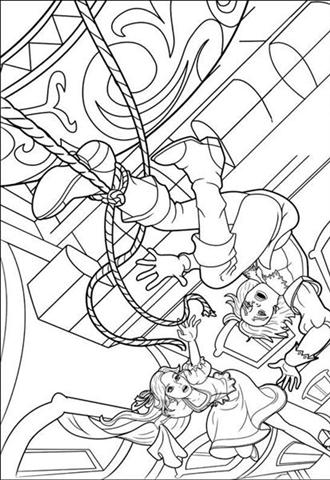 Barbie and The Three Musketeer Coloring Pages 7