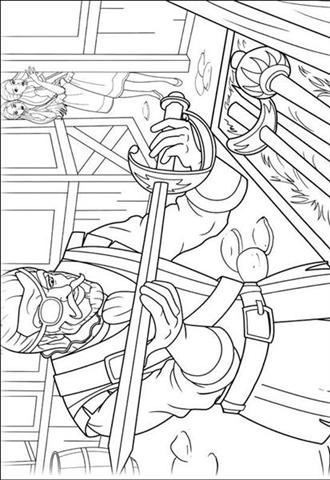 Barbie and The Three Musketeer Coloring Pages 9