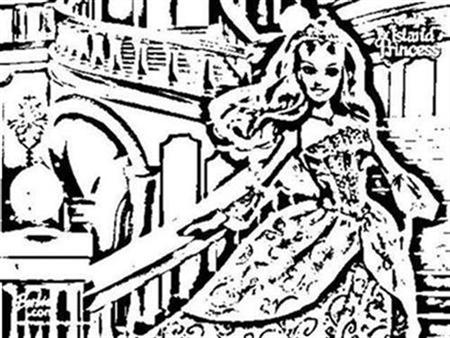 Barbie as The Island Princess Coloring Pages 1