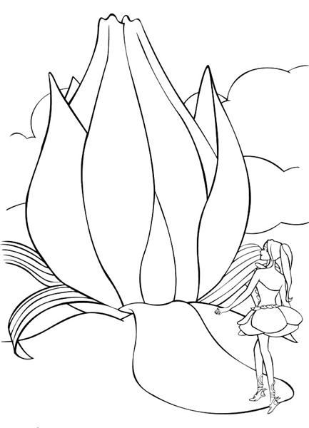 Barbie Fairytopia Coloring Pages 4
