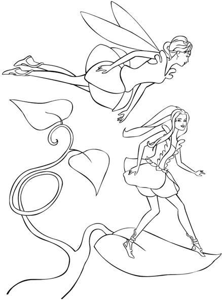Barbie Fairytopia Coloring Pages 7