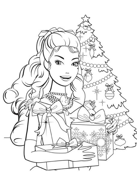 Barbie in a Christmas Carol Coloring Pages 1