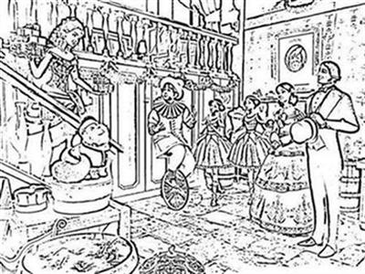 Barbie in a Christmas Carol Coloring Pages 3