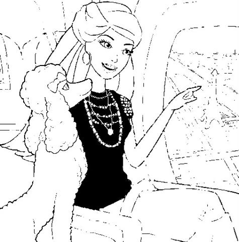 Barbie in a Fashion Fairytale Coloring Pages 2