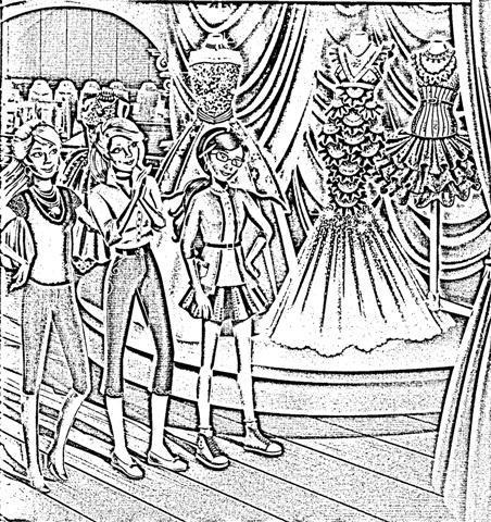 Barbie in a Fashion Fairytale Coloring Pages 3