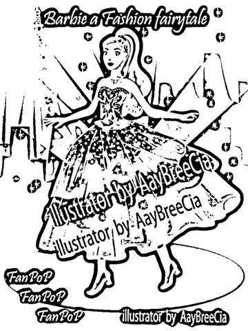 Barbie in a Fashion Fairytale Coloring Pages 4