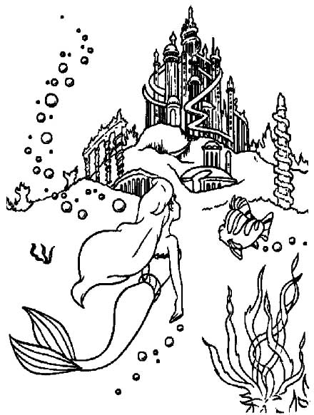 Barbie in a Mermaid Tale Coloring Pages 4