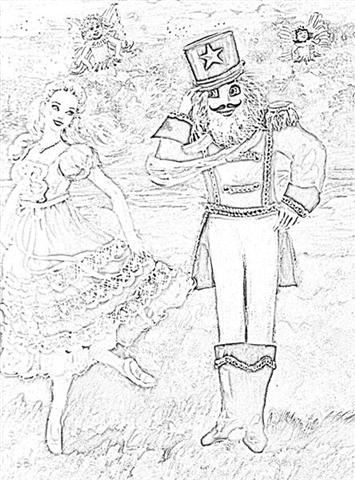 Barbie Nutcracker Coloring Pages 11