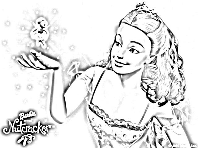 Barbie Nutcracker Coloring Pages