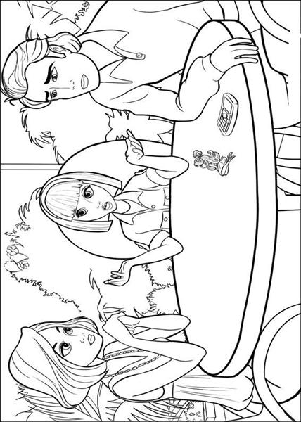 Barbie Thumbelina Coloring Pages 3