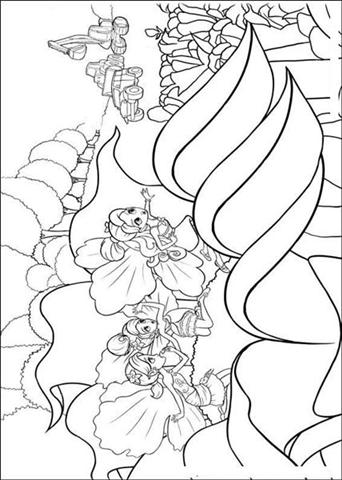 Barbie Thumbelina Coloring Pages 6