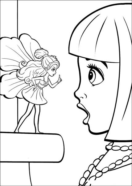 Barbie Thumbelina Coloring Pages 7