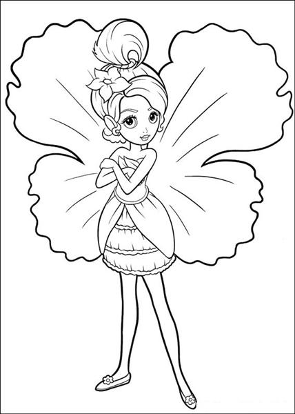 Barbie Thumbelina Coloring Pages 9