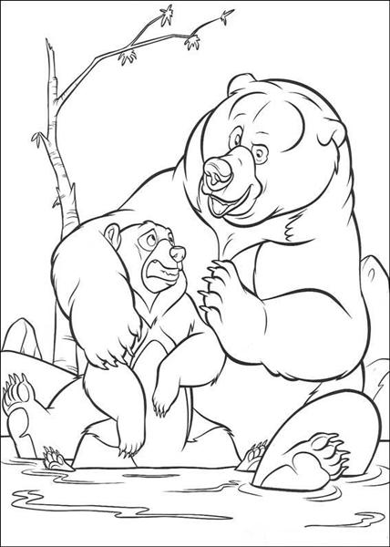 Brother Bear Coloring Pages 10