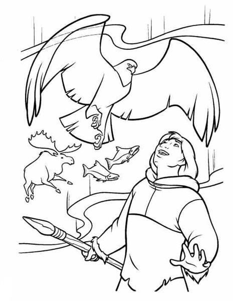 Brother Bear Coloring Pages 11