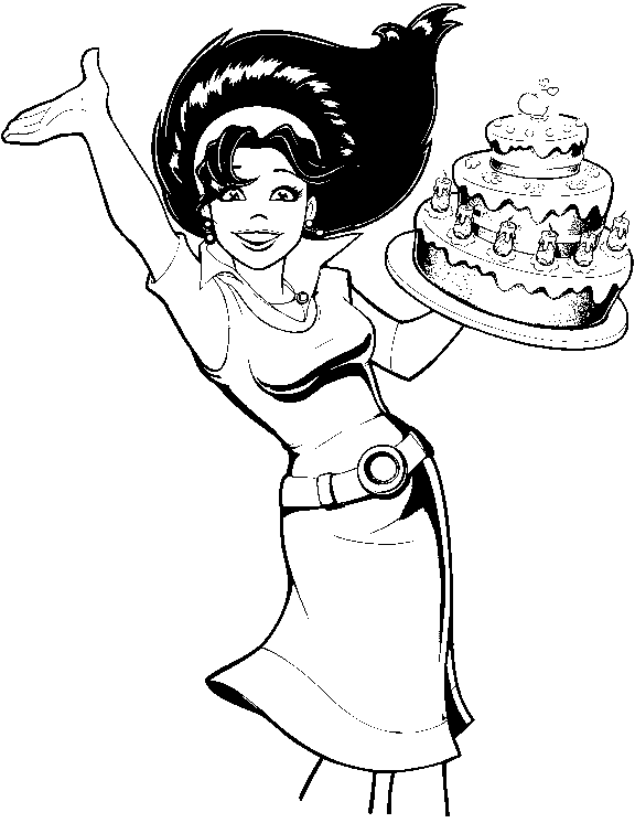 Cake Mania Coloring Pages 5