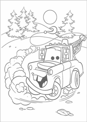 Disney Cars Coloring 9