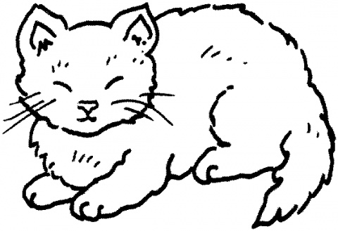 Cat Coloring Pages 7