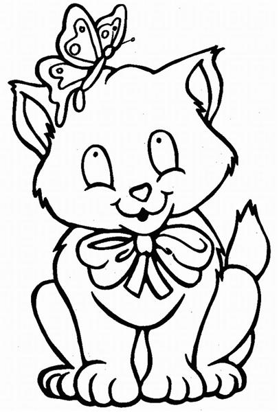 Cat Coloring Pages 2