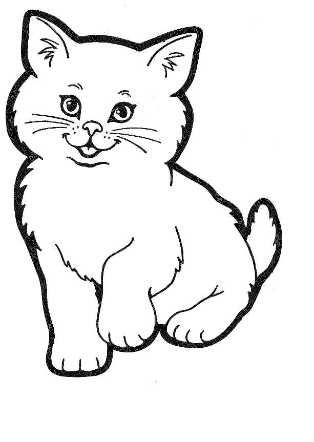 Cat Coloring Pages 3