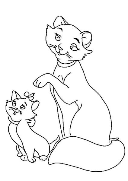 Cat Coloring Pages 12