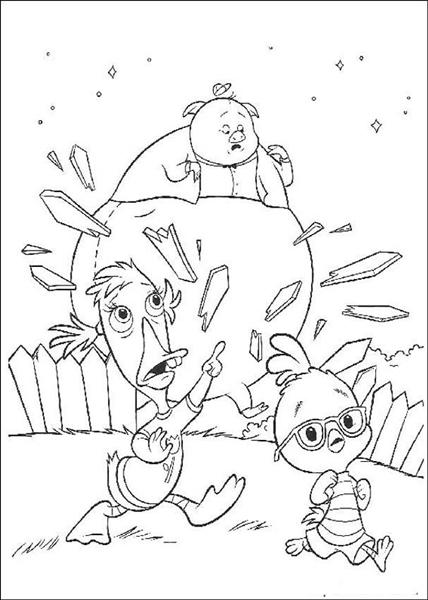 Chicken Little Coloring Pages 2