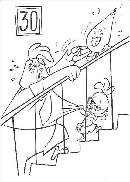 Chicken Little Coloring Pages 4