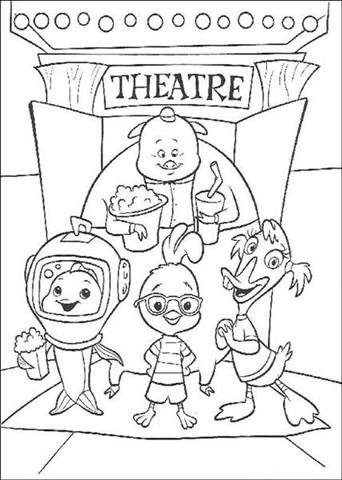 Chicken Little Coloring Pages 5