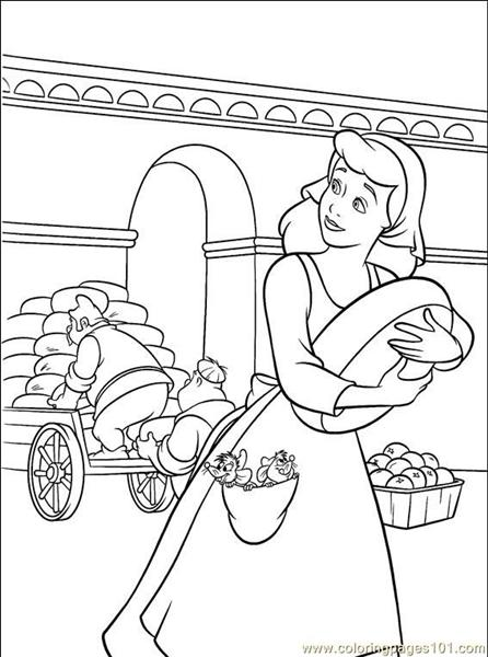 Cinderella 3 Coloring Pages 2