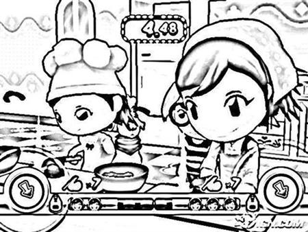 Cooking Coloring Pages Simple Hello Kitty Cook Cakes Coloring
