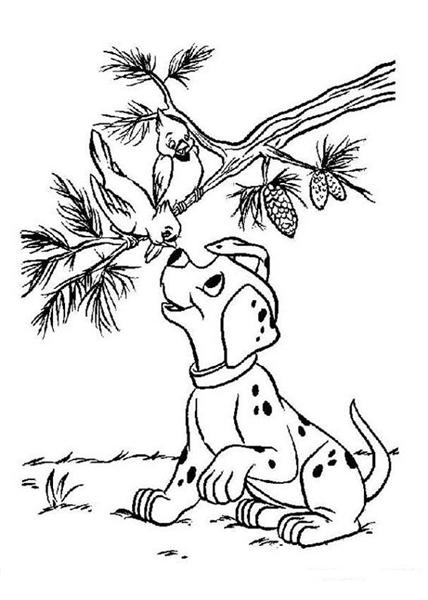Dalmation Coloring Pages 1