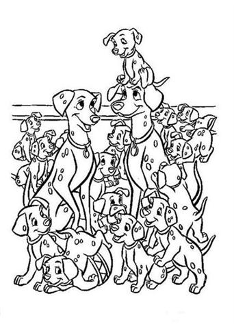Dalmation Coloring Pages 3