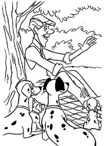 Dalmation Coloring Pages 6