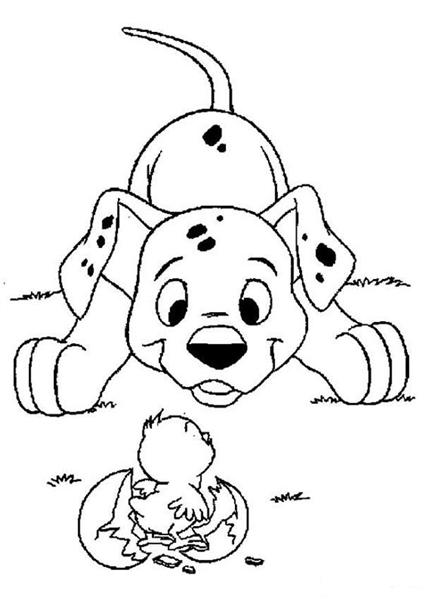 Dalmation Coloring Pages 7