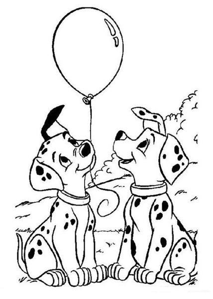 Dalmation Coloring Pages 9