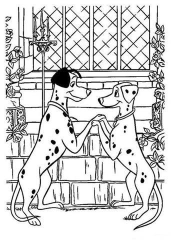Dalmation Coloring Pages 10